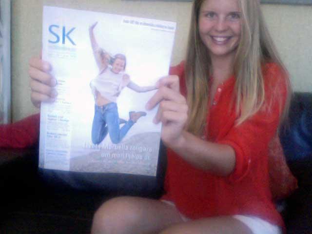 Jag på omslaget av SK!