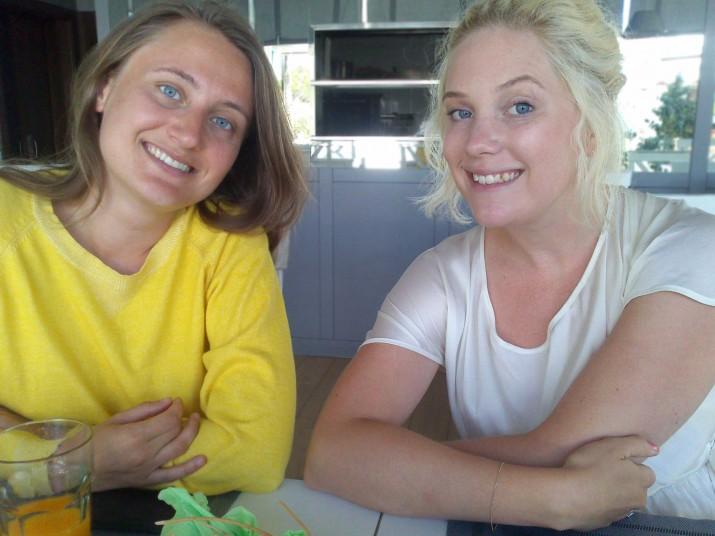 Amanda till höger :)